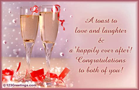 Wedding Congratulation Words by A Toast To You Free Congratulations Ecards Greeting