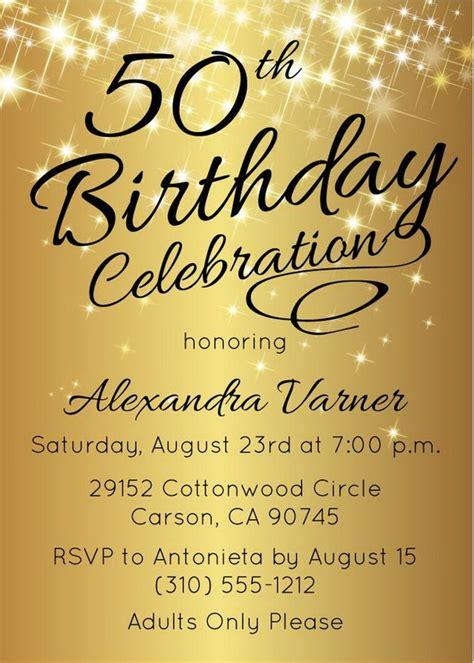 50th birthday invitations for 50th birthday invitation printable gold 50th
