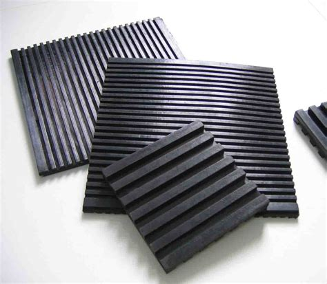 Anti Vibration Matting by China Custom Anti Vibration Pads Vibration Isolation Pad Groove Rubber Pads Photos