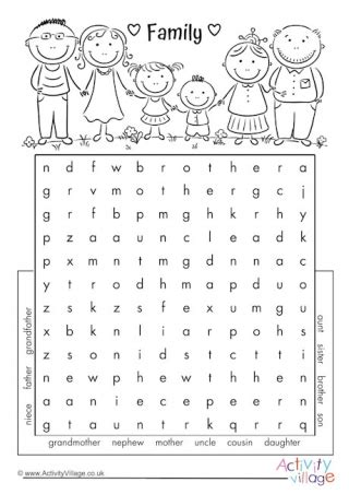 Search Family Family Crossword