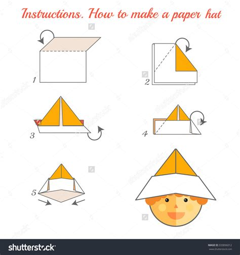 How To Fold A Paper Hat - origami how to make a paper hat playful bookbinding and