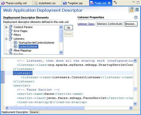 tutorial web xml jsf tutorial 5 running the application