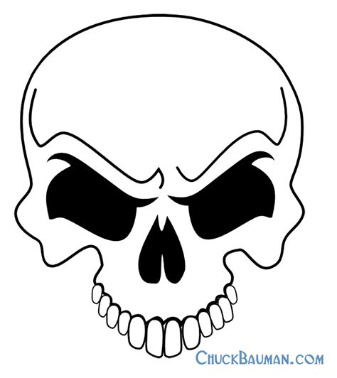 4 best images of free printable skull airbrush stencils