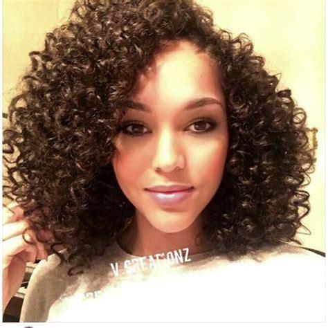 curly black bohemian hair client selfie outre xpressions bohemian crochet braids