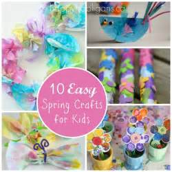 Spring Ideas Spring Crafts For Kids 10 Easy Spring Craft Ideas