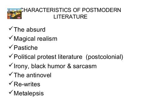 Postmodern Literature postmodernism