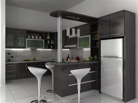 desain dapur kecil dengan mini bar 71 desain dapur minimalis modern sederhana sangat mewah 2017