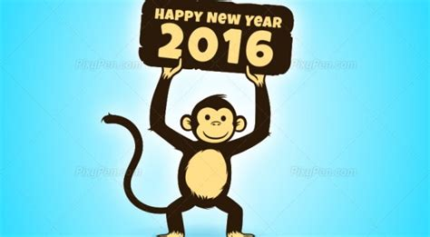 new year clipart monkey happy new year 2016 photos archives pixypen