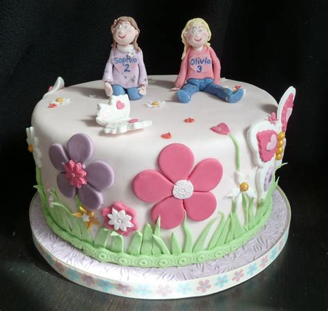 Twins Birthday Cake   Wedding & Birthday Cakes from Maureen's Kitchen In Whitley Bay