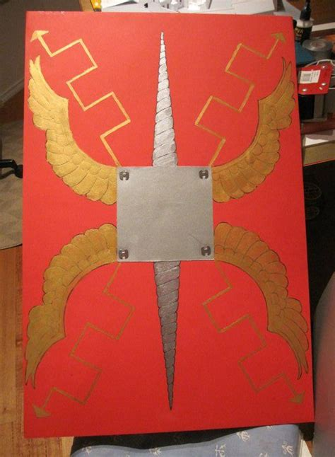 How To Make A Paper Shield Easy - how to make a shield