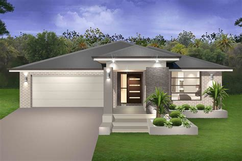one story modern house plans seachange single storey marksman homes illawarra and