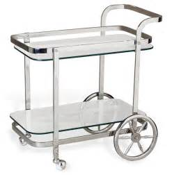 Bar Cart Viggo Regency Rolling Silver Bar Cart Kathy