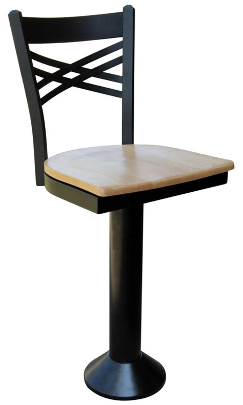 Floor Mounted Diner Stools by Floor Mounted Bar Stool X Back Counter Stool