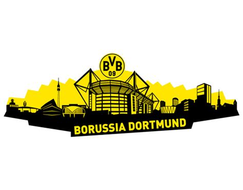 Football Wall Sticker wall decal borussia dortmund skyline dortmund 93x33