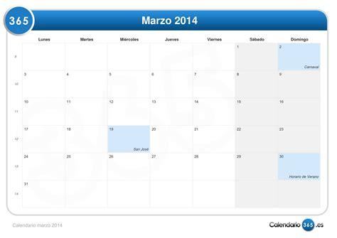 Marzo Calendario Calendario Marzo 2014