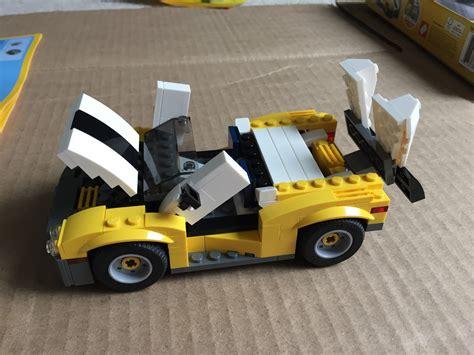 Lego Creator 3 In 1 31046 Fast Car Set Motorcar Truck Forklift Tractor lego creator 3 in 1 fast car review 31046