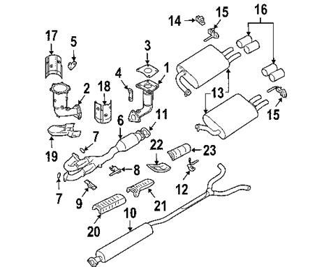 2004 nissan maxima parts diagram parts 174 nissan maxima exhaust components oem parts