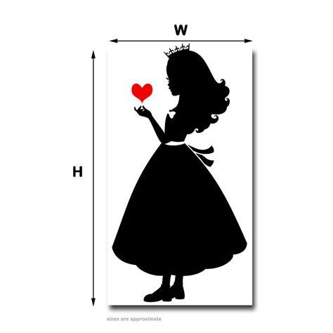 Disney Princess Wall Sticker princess silhouette wall sticker decal by snuggledust