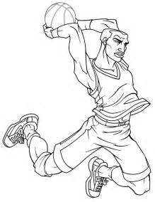 cool basketball cartoon for teenagers coloring page h
