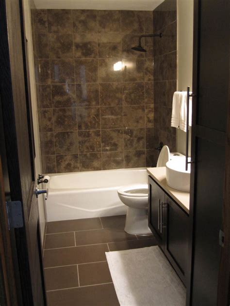 Dark Tile Bathroom Ideas by Bathroom Appealing Bathroom Decoration Using Dark Brown