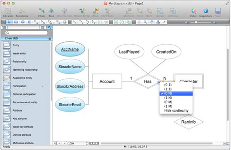 er database diagram tool entity relationship diagram erd solution for conceptdraw
