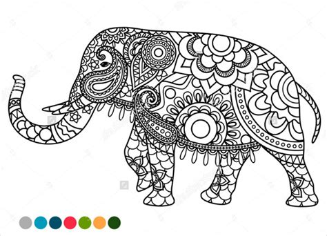 elephant mandala coloring books elephant mandala coloring book coloring pages