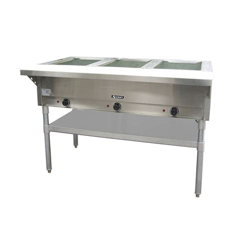 Steam Table Adcraft Three Bay Steam Table Public Kitchen Supply