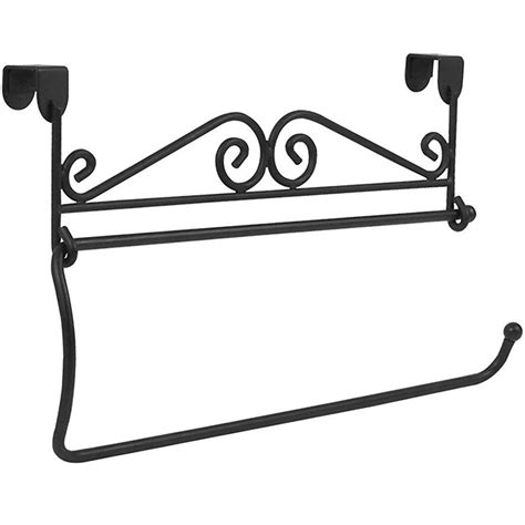cabinet mounted paper towel holder black in paper towel
