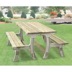 Patio Table With Bench Bench To Table Kit 46325 Patio Furniture At Sportsman S Guide