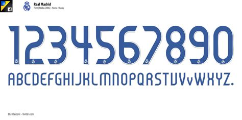Custom Font Nameset Argentina World Cup 2006 real madrid adidas 2006 font car interior design