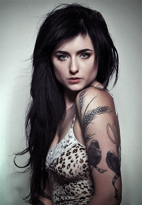 woman with tattoos most desirable in the world with