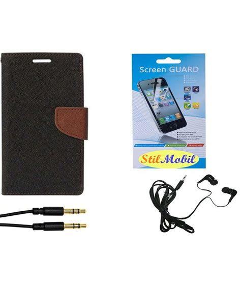 Earphone Samsung A5 stilmobil flip cover for samsung galaxy a5 black with