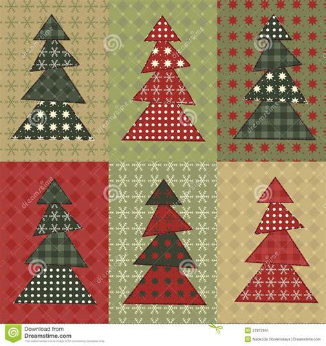christmas tree set 8 stock image image 27872841
