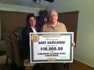 good luck comes to real publishers clearing house winner gary hazelwood pch blog - Real Publishers Clearing House Winners
