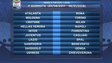 Calendario 2018 Serie A Calendario Serie A 2017 2018 Tutte Le Partite Della Juventus
