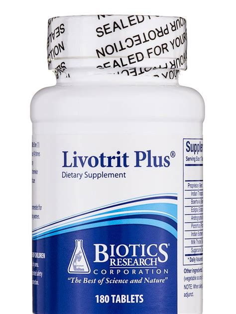 Biotics Research Bio Detox For Sale by Livotrit Plus 180 Tablets