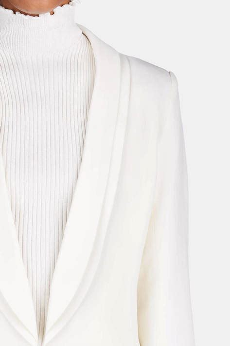 Pashmina Italianocrep brandon maxwell jacket with classic lapel white the line