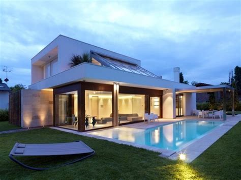 modern house plans with pool modern italian design house duilio damilano modern house