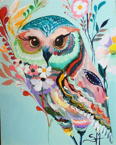 25 Best Ideas About Owl Art On Pinterest Colorful Owl Really Owl Drawings With Color