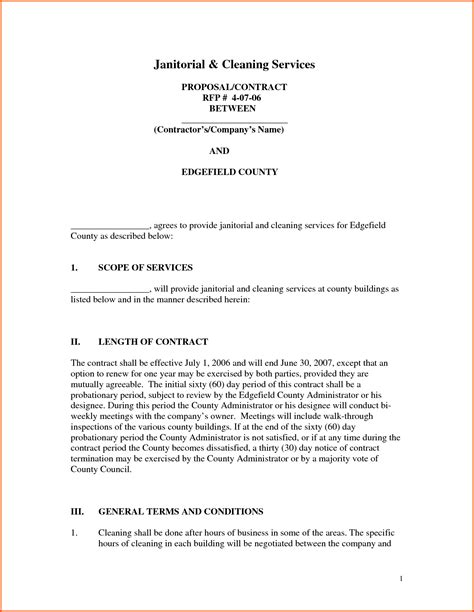 free janitorial proposal template gse bookbinder co