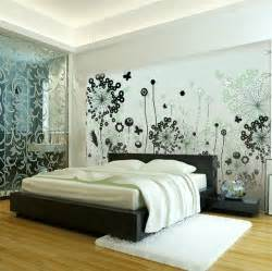 black white contemporary bedroom scheme interior design