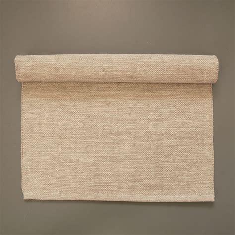 Marbled beige cotton floor runner