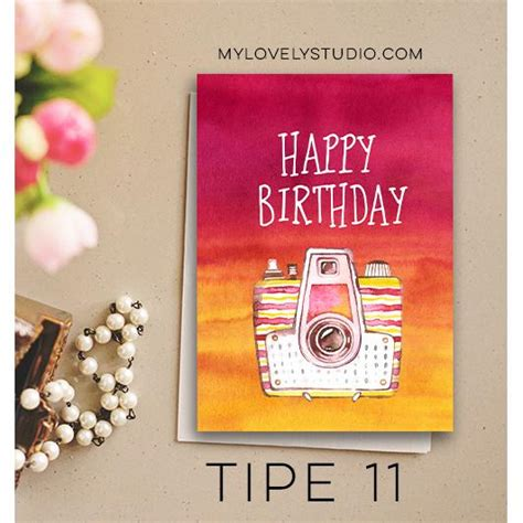 Kartu Ucapan Gift Card 1pcs happy birthday card kartu ucapan selamat ulang tahun tipe 11 elevenia