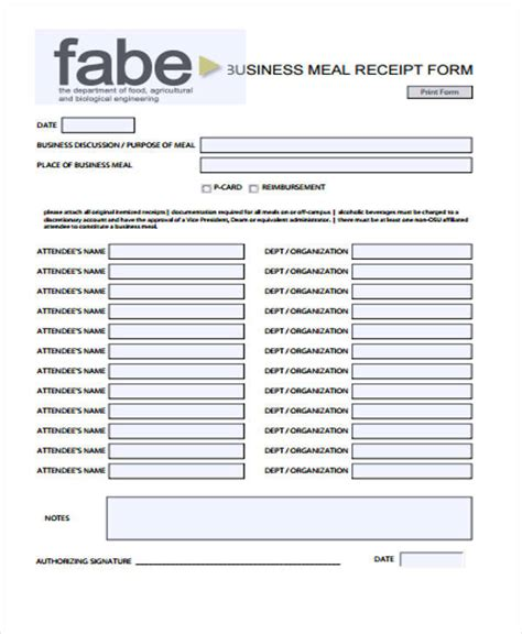 dinner receipt template 39 sle receipt forms sle templates