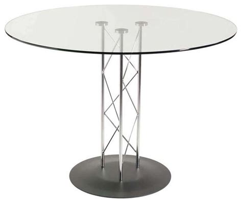 eurostyle trave 36 inch glass dining table w