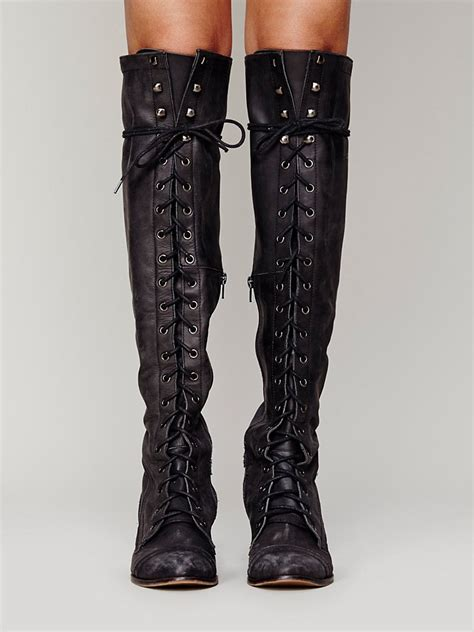 lace up boot free joe lace up boot in black lyst