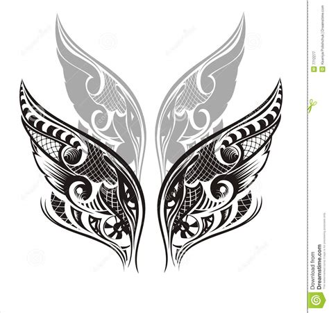wings tattoo design royalty free stock photography