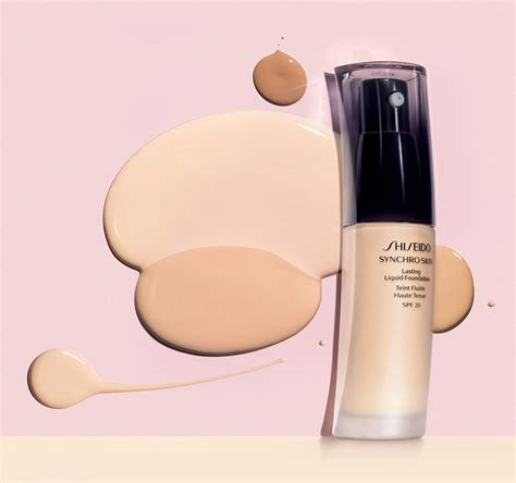 Shiseido Synchro Skin Foundation synchro skin liquid foundation base makeup flawless