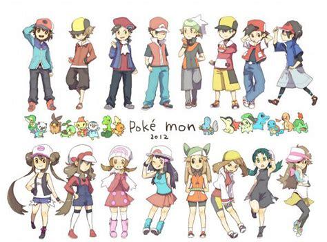 girl hairstyles pokemon y pokemon all trainer protagonists pokemon pinterest