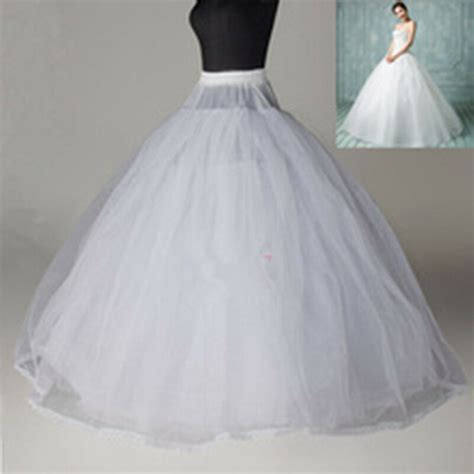 New 6 Layer White Crinoline Petticoat no hoop ball gown